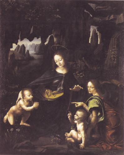 """《岩间圣母》图源:""""欧洲文艺复兴大师""""书系之《达·芬奇》"""