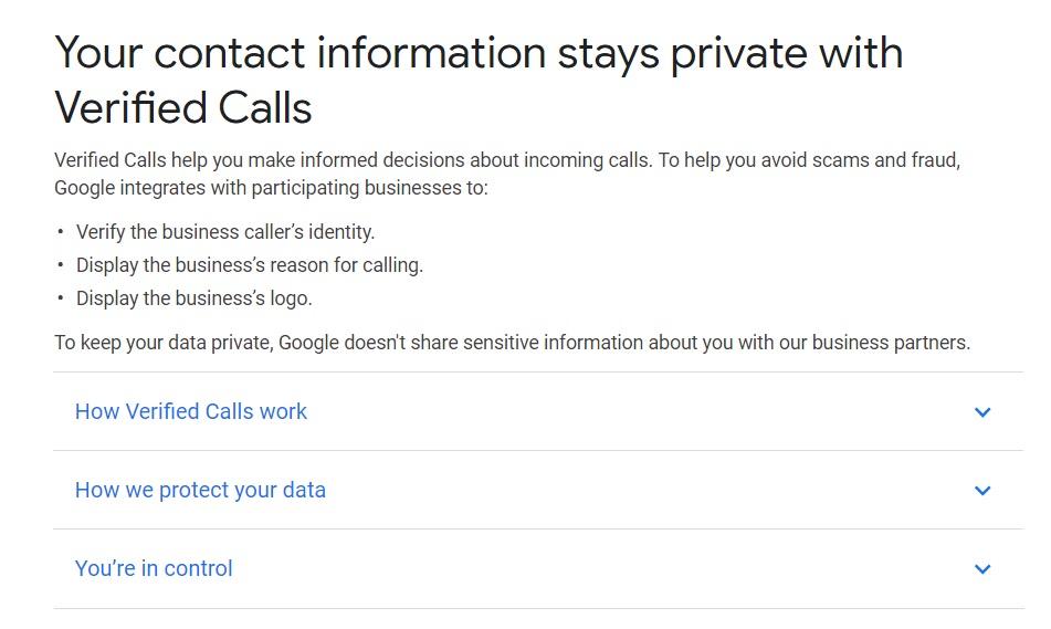 """根治骚扰电话,谷歌推出""""已验证呼叫""""功能"""