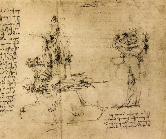 """《妒忌与恶念》 图源:""""欧洲文艺复兴大师""""书系之《达·芬奇》"""