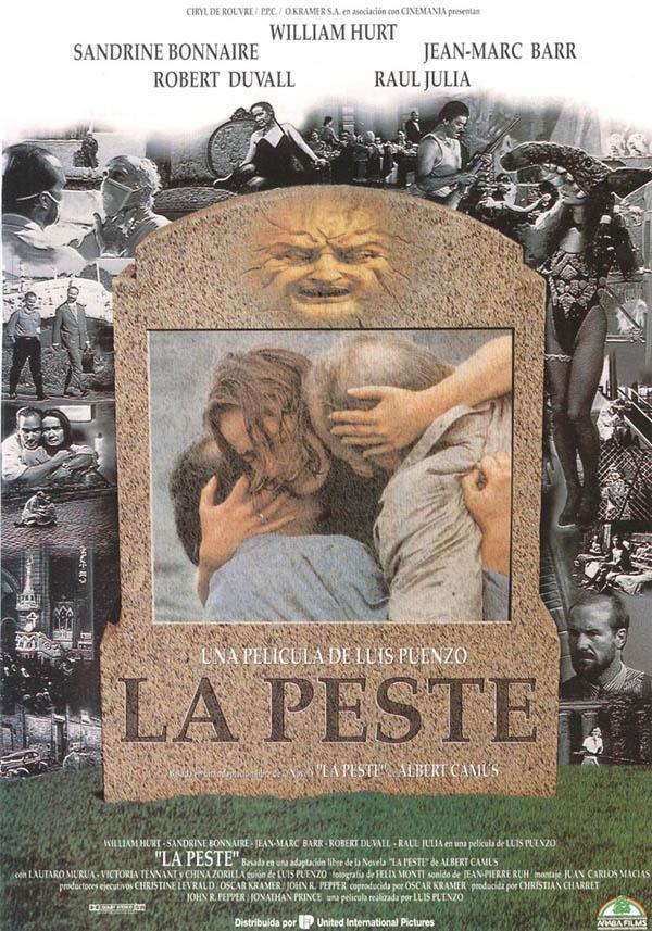 1992年,根据加缪《鼠疫》改编的同名电影海报。