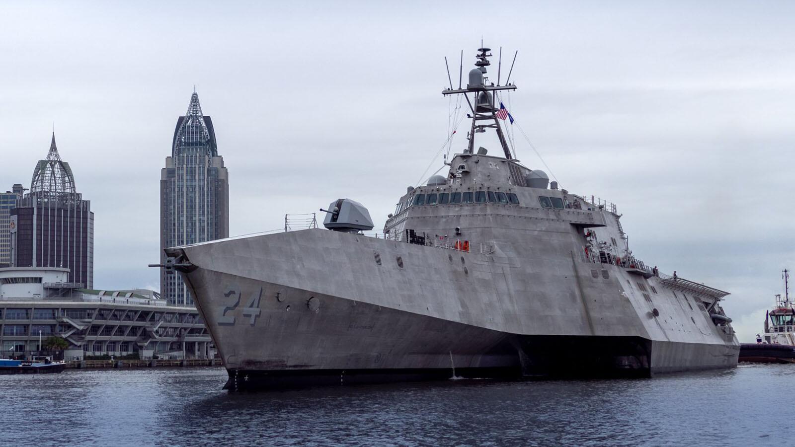 """美国海军""""奥克兰""""号濒海战斗舰"""