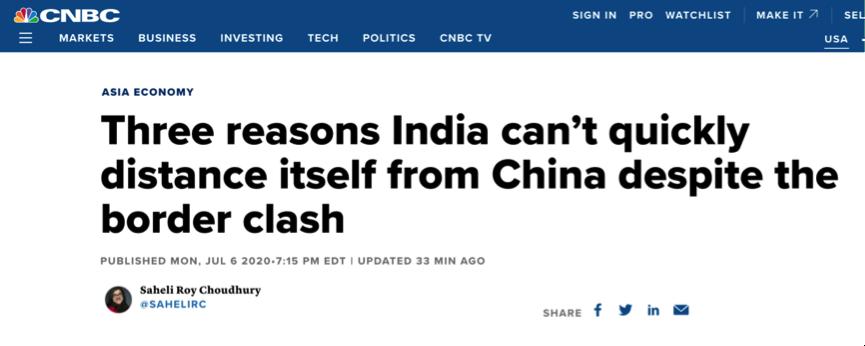 """【大连阡陌网】_美媒:印度经济想与中国迅速""""脱钩"""",难!"""