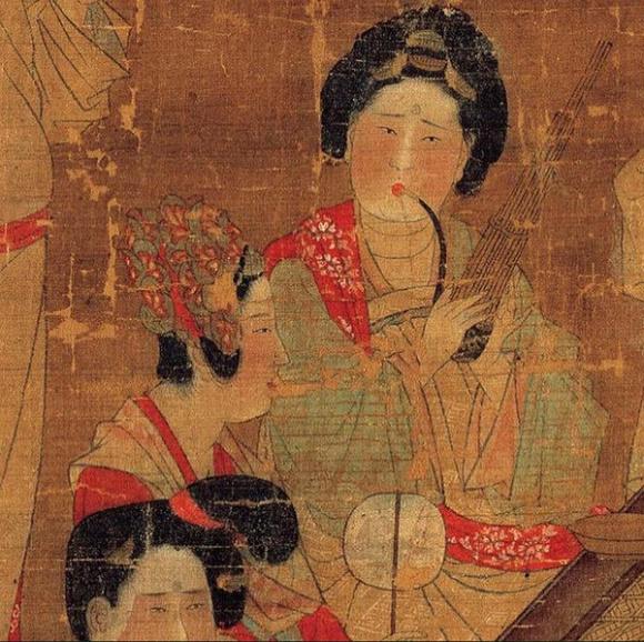 唐・佚名《唐人宫乐图》(局部)