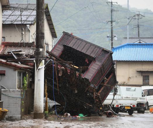 【穷站长】_熊本县暴雨已致20人死亡 日本政府紧急成立新部门救灾