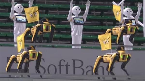 疫情致日本棒球比赛用机器人当球迷 现场尬舞气氛诡异