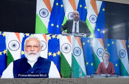"""深圳丝袜按摩_欧盟领导人表示希望与印度达成""""雄心勃勃的""""自贸协定"""