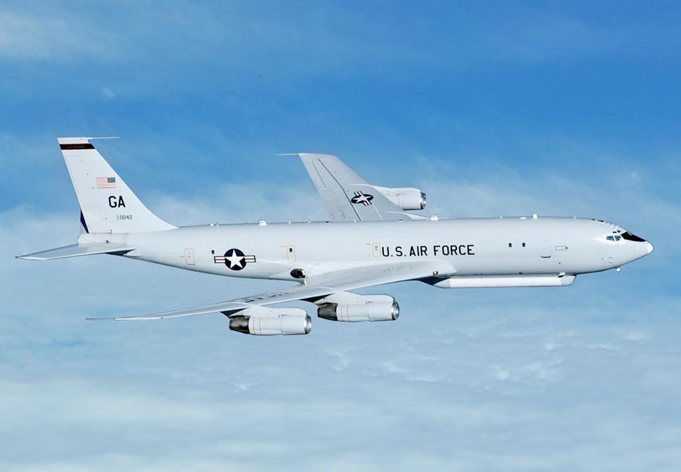 """美国空军E-8C""""联合星""""飞机"""