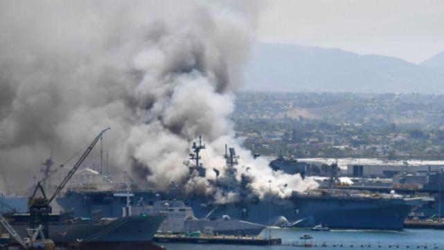 【迪士尼国际邀请码88688】_美军两栖攻击舰还在烧 官员:可能还要烧几天