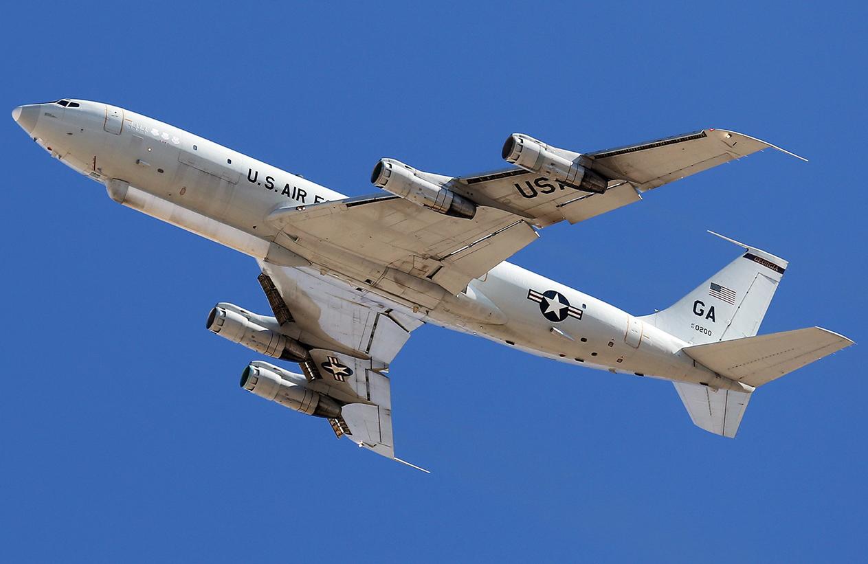 """美国空军E-8C""""联合星""""空地监视飞机"""
