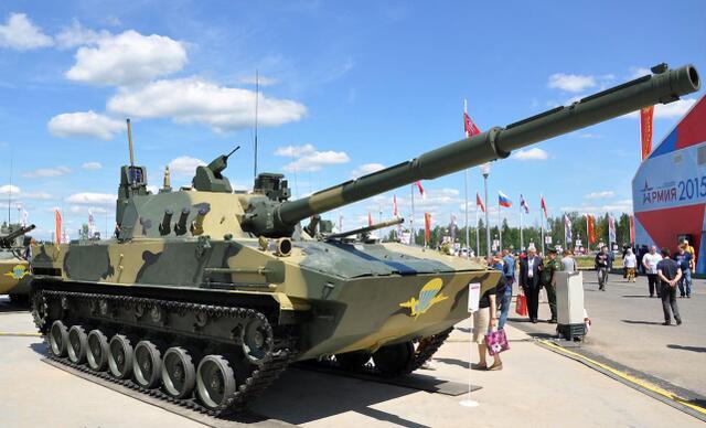 俄罗斯研制的2S25M1(Sprut-SDM1)自行反坦克炮