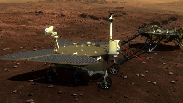 △中国火星车示意图