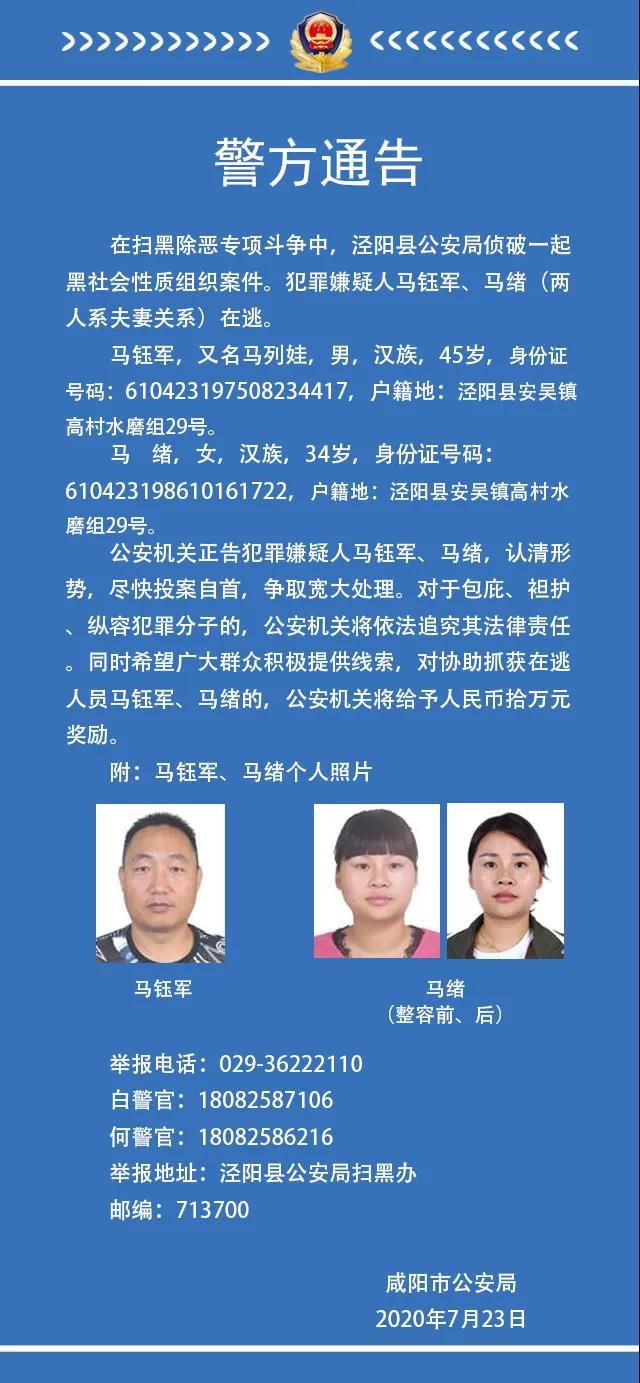 【网络营销品牌】_陕西咸阳警方通缉两名涉黑在逃人员,一人整过容