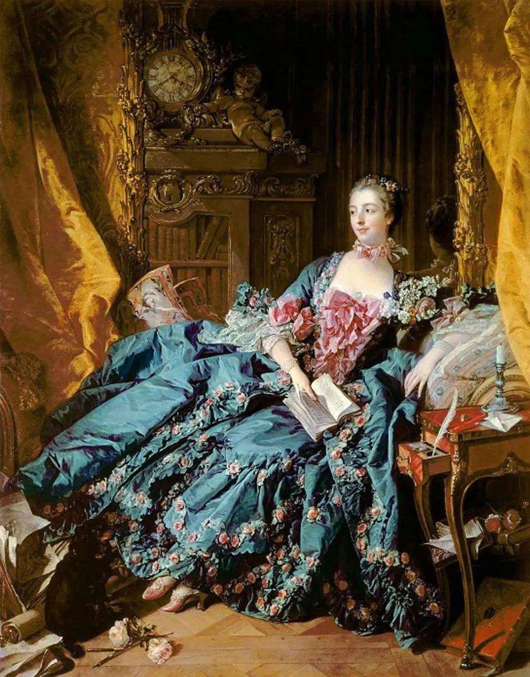 《蓬皮杜夫人肖像》