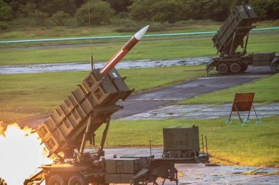 """""""爱国者""""三型导弹(图源:台湾《联合报》)"""