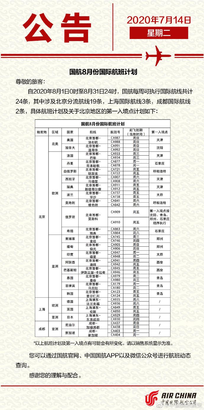 【搜索引擎优化排名】_三大航公布8月国际航班计划,东航南航均有调整