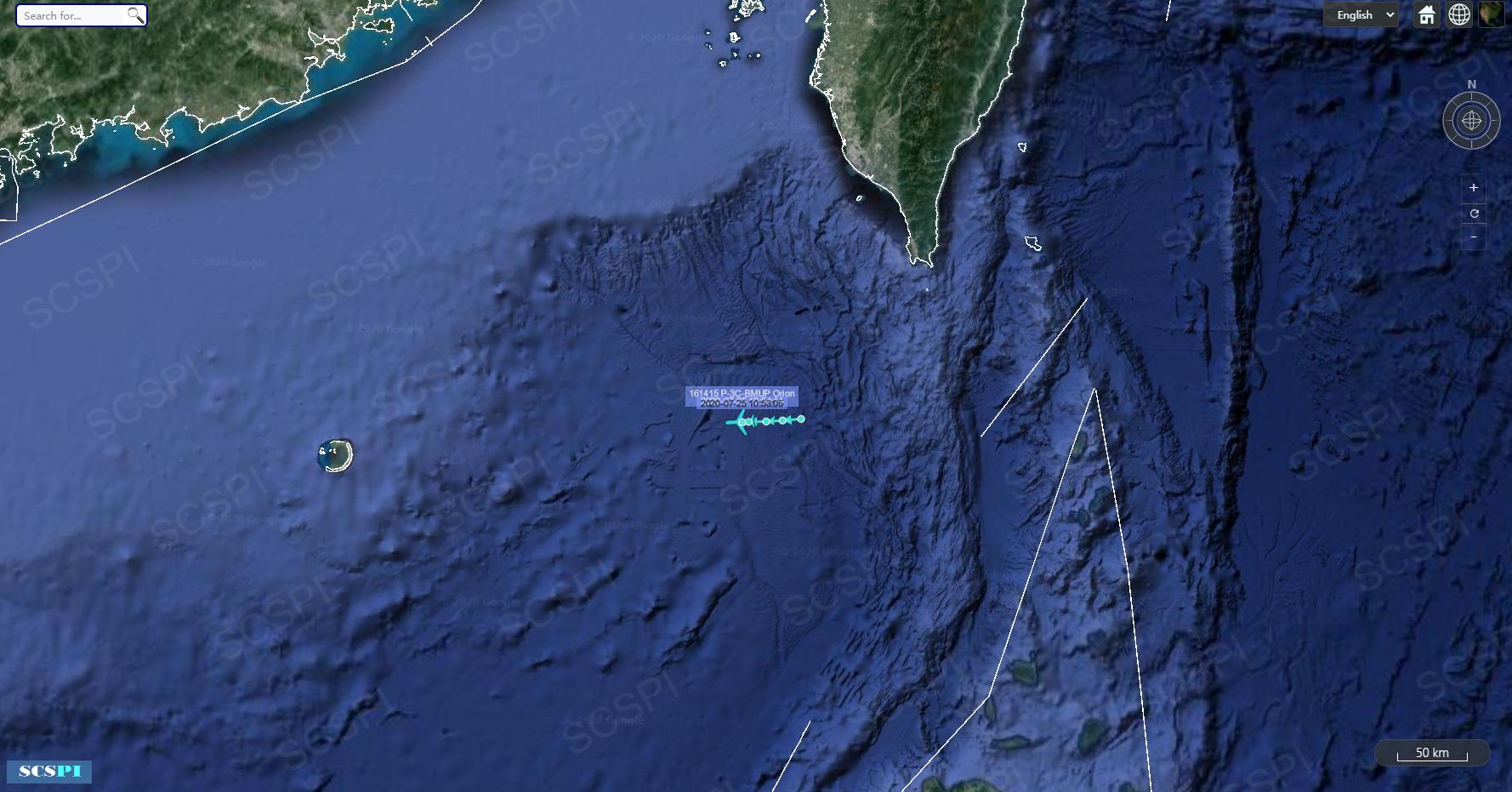 解放军南海实弹演习 美国海空军各派军机飞向南海