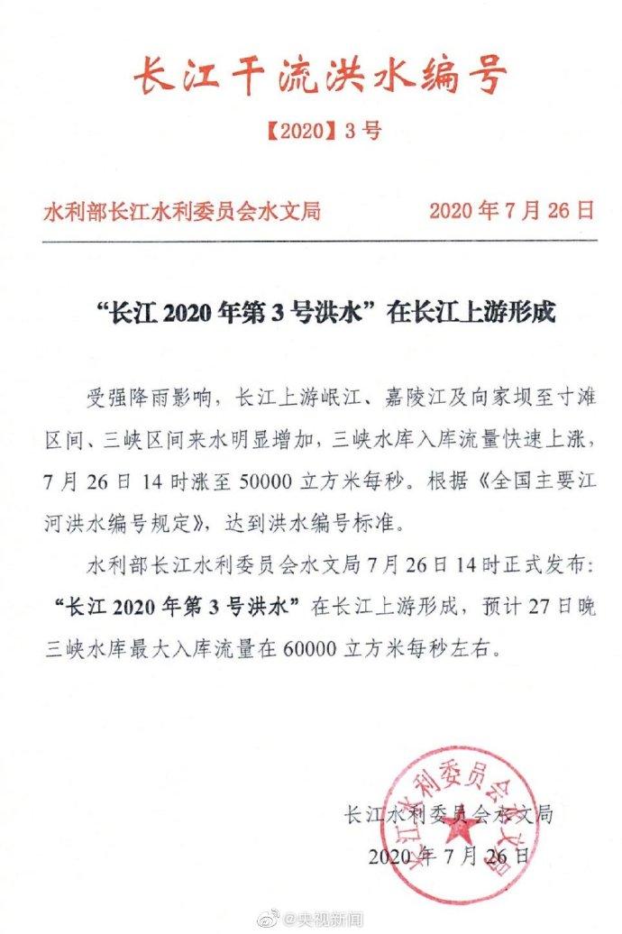 【求包养网站】_长江2020年第3号洪水形成 扩散周知,提高警惕!
