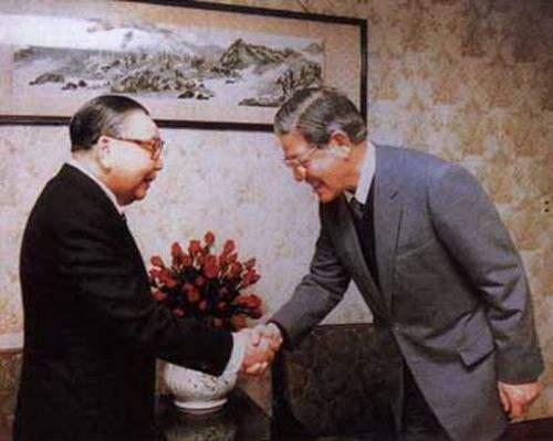 蒋经国与李登辉合影