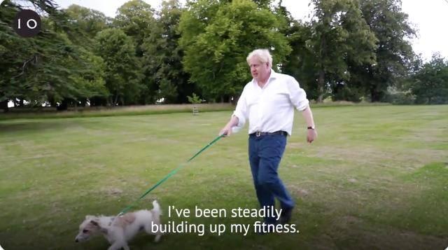 【南雄网】_英首相约翰逊称新冠康复后每天遛狗跑步,力推政府