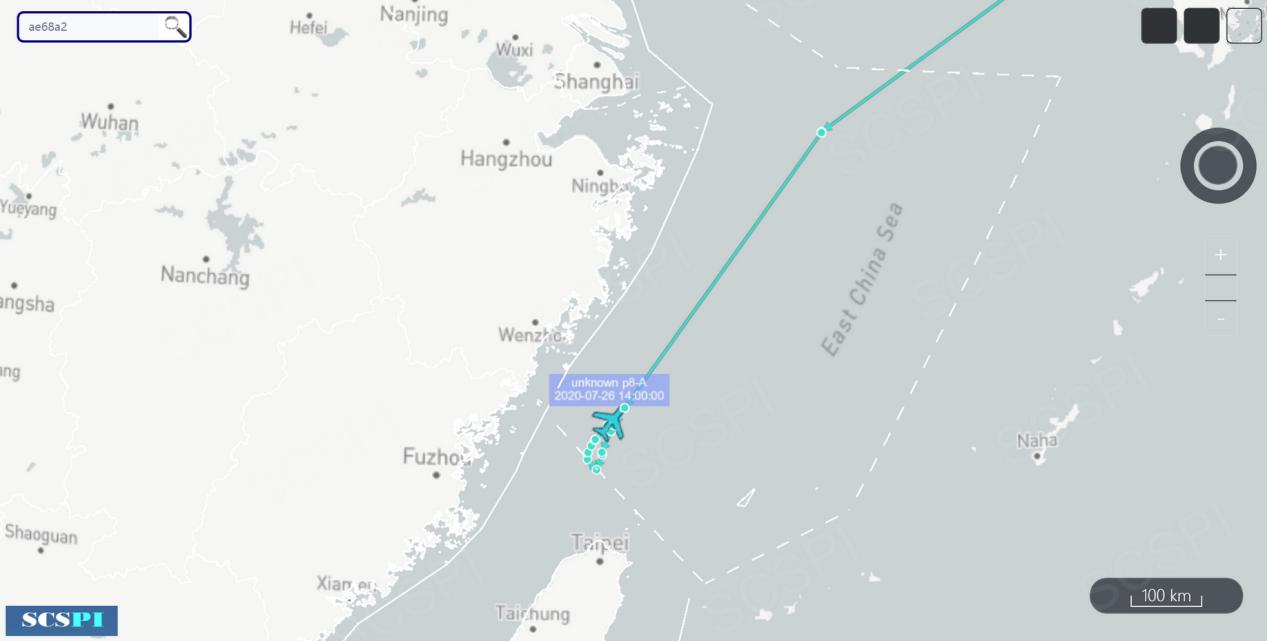 又来挑衅!美军机现身东海 距福建海岸仅76千米