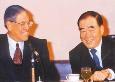 李登辉与郝伯村合影