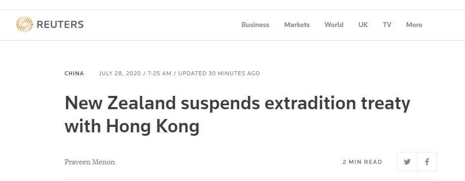 【外链快猫网址】_又一国跟风!新西兰宣布暂停与香港引渡条约