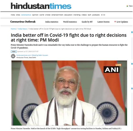 连续2天单日新增近5万例 莫迪还在说:印度比其他国家做得更好