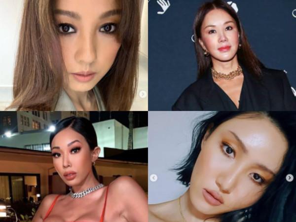 李孝利公开女团理想成员,包括严正花(右上)、Jessi(左下)、华莎(右下)。