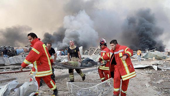 黎巴嫩官方:首都大爆炸由2750吨硝酸铵引起