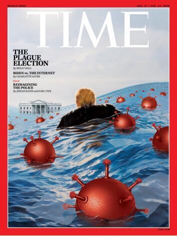 """【迪士尼月饼】_《时代》周刊新封面公布:新冠病毒""""水淹""""白宫,特朗普被包围!"""