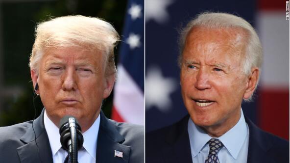 特朗普(左)和拜登(右) 图源:CNN