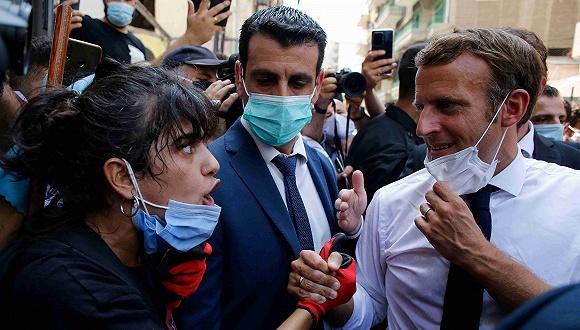 【武汉日本强轮视频电影优化】_马克龙到访贝鲁特承诺援助,黎巴嫩民众:别把钱给我们政府