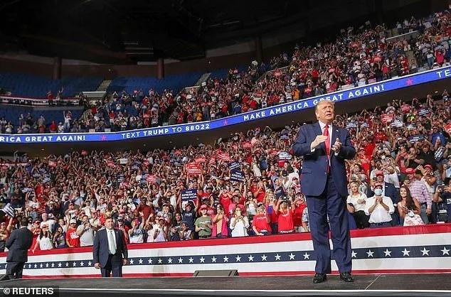 特朗普竞选集会现场,图源:路透社