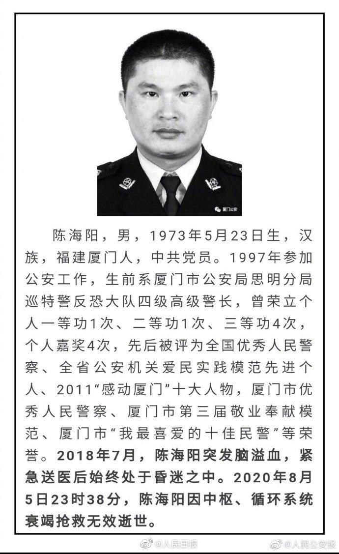 【企划网】_沉痛!厦门两名高级警长同日殉职