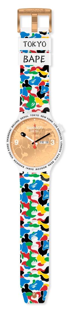 腕间潮酷:斯沃琪XBAPE再度携手发布联名腕表