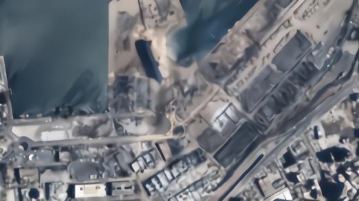 中国卫星拍下黎巴嫩首都爆炸前后对比