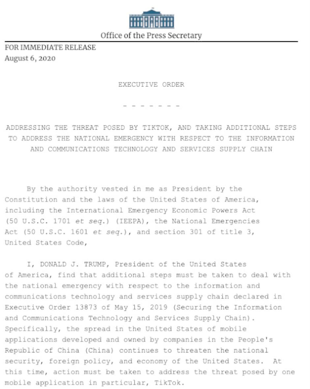 特朗普宣布签署的行政命令