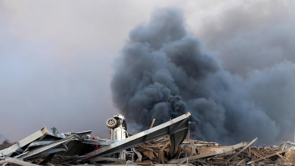 黎巴嫩首都巨大爆炸已致至少78死4000伤 现场升起蘑菇云