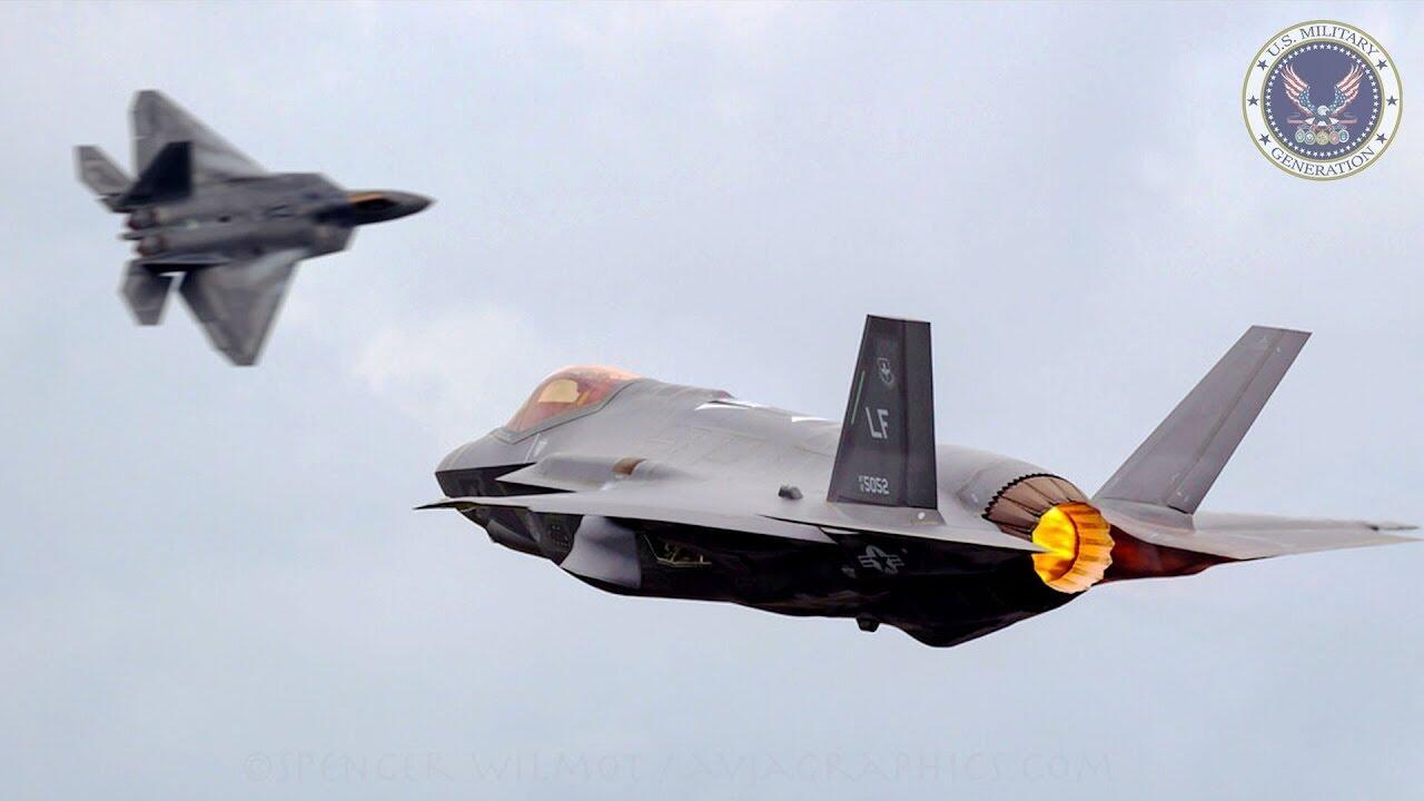 美军出动四款隐形战机参加军演 最机密部队曝光