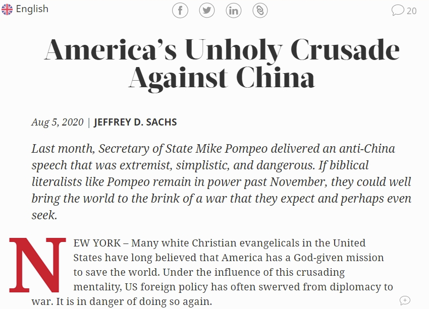 【暴风中文字幕乱在线伦视频论坛】_联合国高级顾问:美国对华搞新的十字军东征,太邪恶