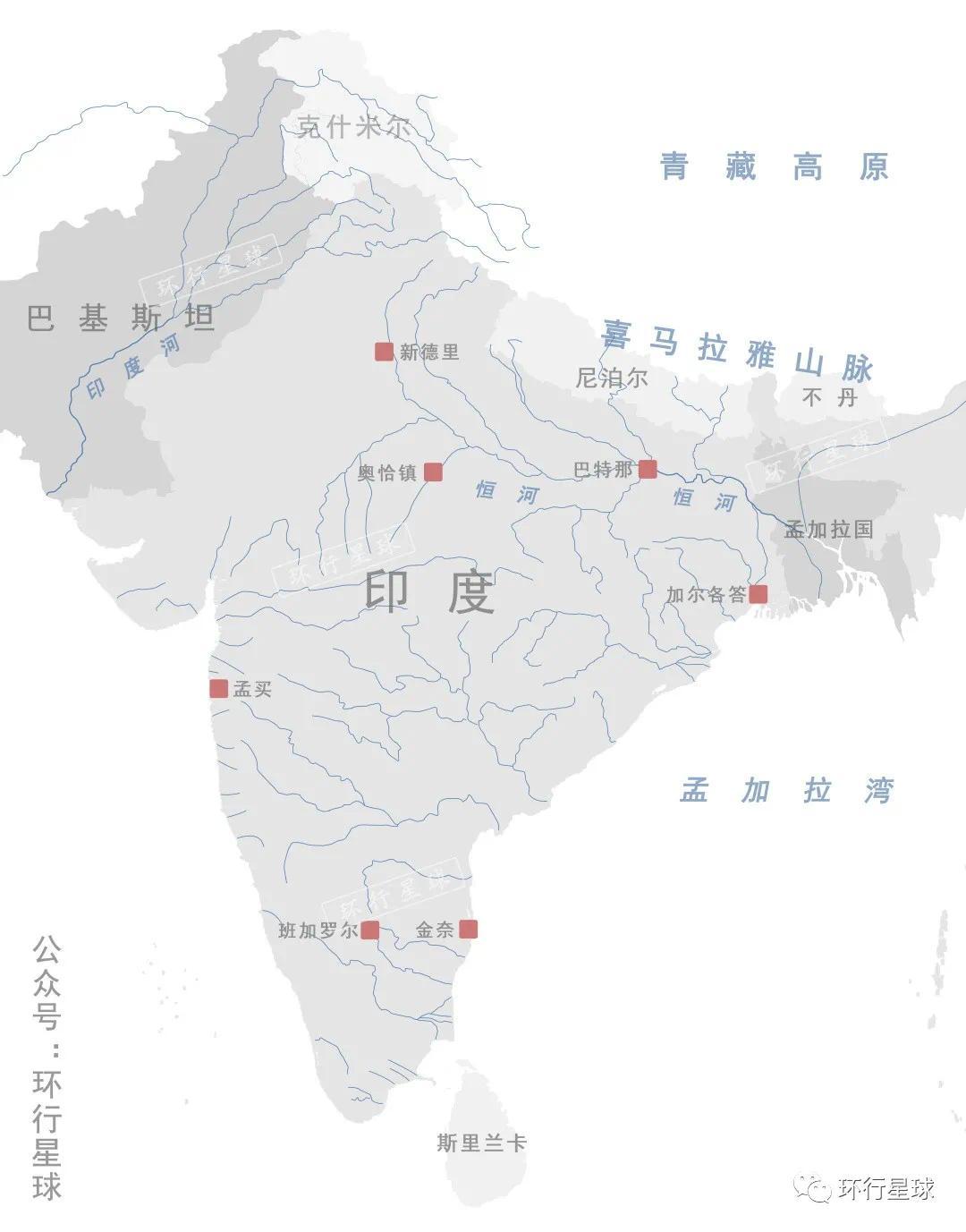 奥恰镇位于印度的中央邦,制图:孙绿