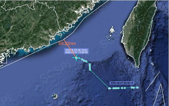 美军又派电子侦察机进入南海 一度飞近广东沿岸