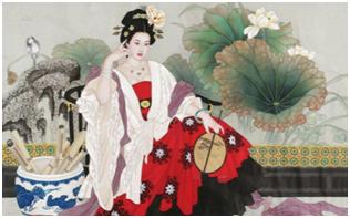 〓 李白妻子许氏绘画