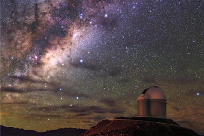 """位于智利阿塔卡玛沙漠(世界""""干极"""")的欧南天文台(图片来源:国家地理)"""