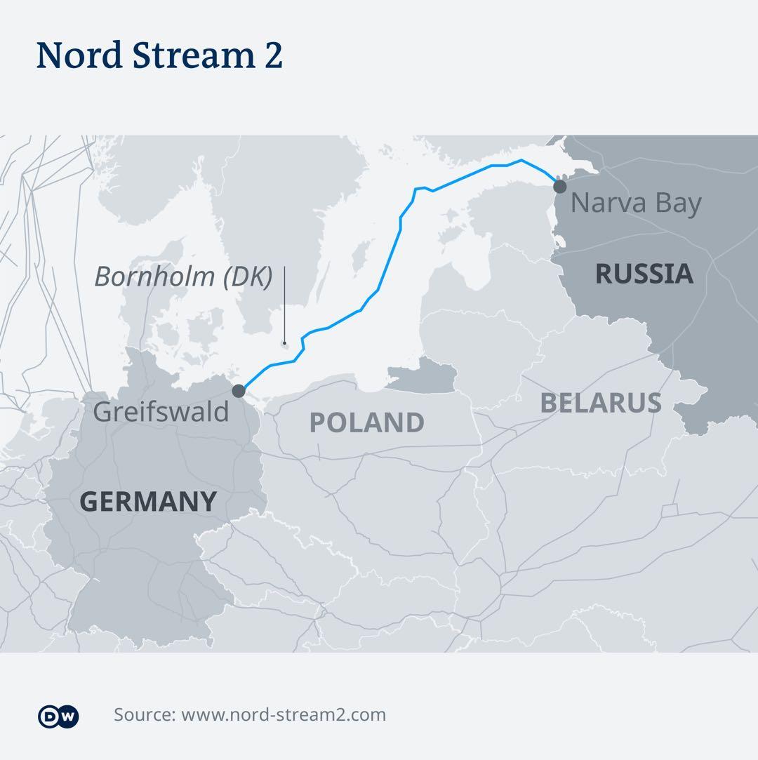 """美国威胁制裁参与""""北溪-2""""的德国地方 德国外交部:绝不接受"""