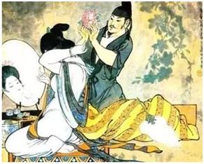 〓 李白与妻子宗氏的绘画