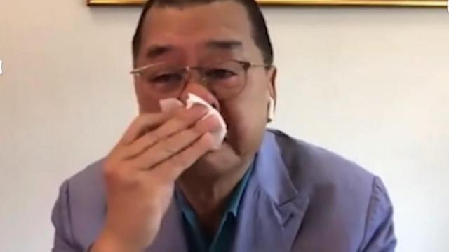 黎智英直播中一把鼻涕一把泪 称自己不会被押回内地