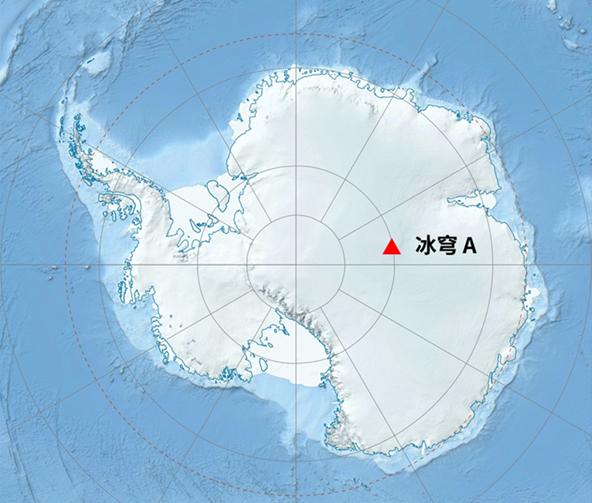 冰穹 A在南极大陆的位置 (图片来源:wikipedia.org)