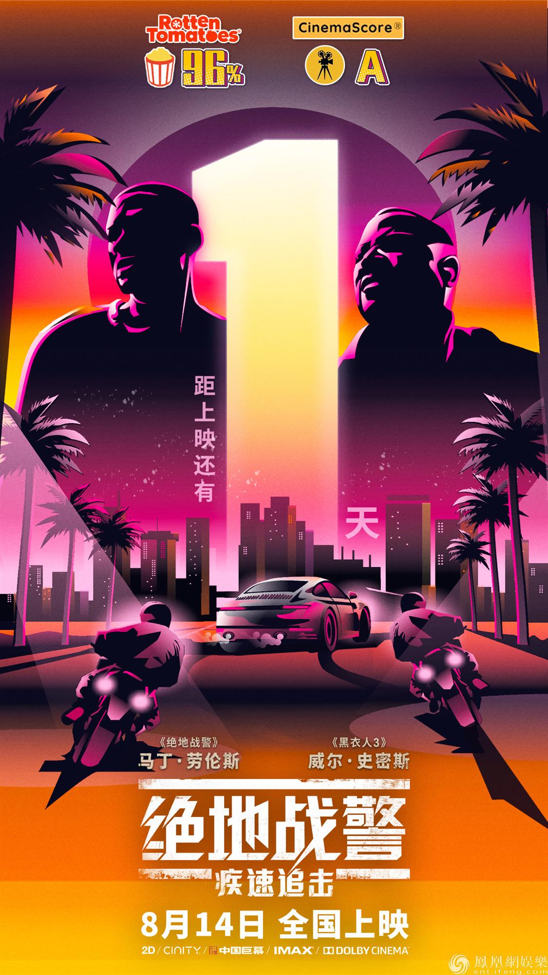 《绝地战警:疾速追击》明日上映史皇飙车枪战燃燥周末