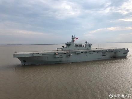 """全天候的075舰将成为台海局势中对手不得不考虑的""""新常态"""""""